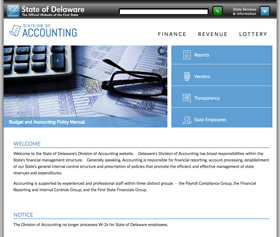 Division of Accounting website