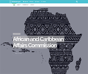 Image of the new African Caribbean Affairs Commission CLF4 website