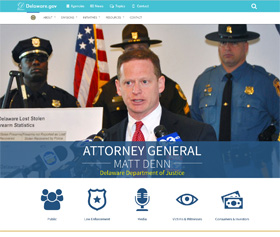 Image of the new Attorney General CLF4 website