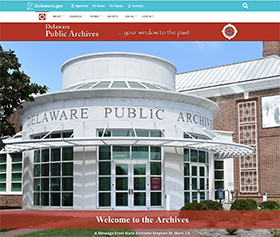 Image of the Delaware Public Archives's new CLF4 website