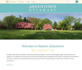 Image of Ardentown's new responsive website