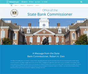 Image of the State Bank Commissioner's new CLF4 website