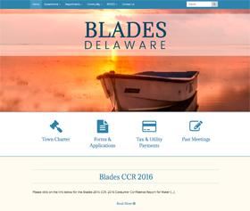 Image of Blade's new responsive website