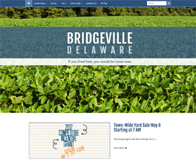 Image of Bridgeville Delaware's new responsive website