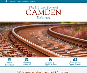 Image of the new Camden Delaware responsive website