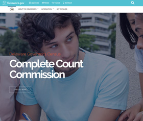 Image of the Complete Count Commissions new responsive website