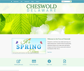 Image of Cheswold Delaware's new responsive website