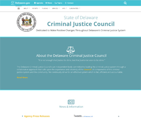 Image of the Criminal Justice Council's new CLF4 website