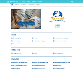 Image of the Division of Corporations's new CLF4 website