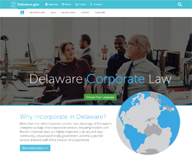 Image of Delaware Corporate Law's new CLF4 website