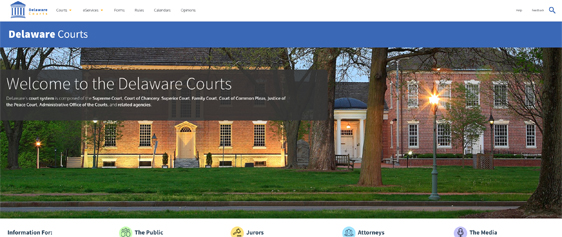 Delaware Courts new website