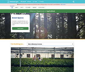 Image of the Department of Agriculture's new CLF4 website