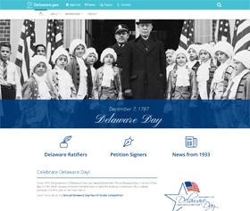 Image of the Delaware Day new CLF4 website