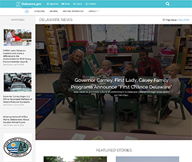 Image of the new Delaware News CLF4 website