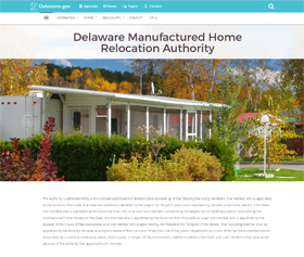 Image of the Delaware Manufactured Home Relocation Authority CLF4 website