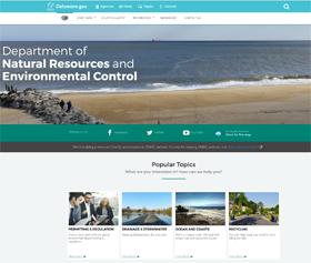 Image of DNREC's new Alpha CLF4 website