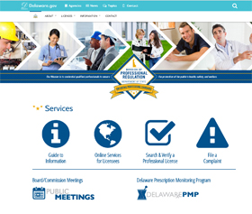 Image of Division of Professional Regulation's new CLF4 website
