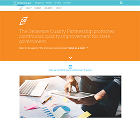 Image of the Delaware Quality Partnership's new CLF4 website
