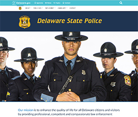 Image of the Delaware State Police's new CLF4 website