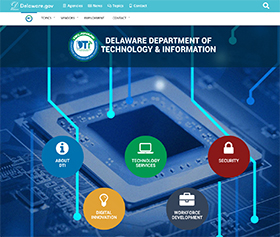 Image of the Department of Technology & Information's new CLF4 website