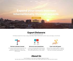Image of the new Export Delaware responsive website