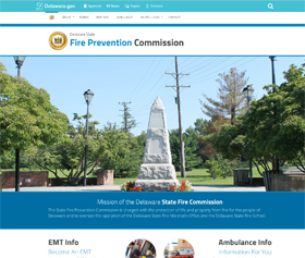Image of the new State Fire Commission CLF4 website