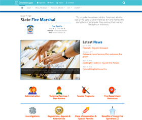 Image of the new State Fire Marshal CLF4 website