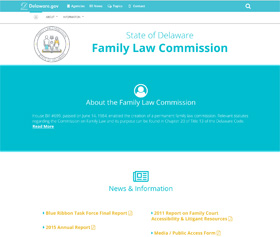Image of the Family Law Commission's CLF4 website