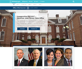 Image of Governor John Carney's CLF4 website