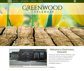 Image of Greenwood Delaware's new responsive website