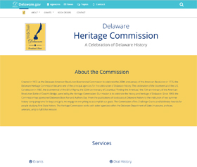Image of the Delaware Heritage Commission CLF4 website