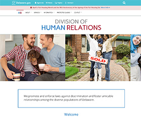 Image of the Division of Human Relations's new CLF4 website