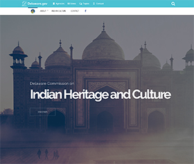 Image of the Delaware Commission on Indian Heritage and Culture's new CLF4 website