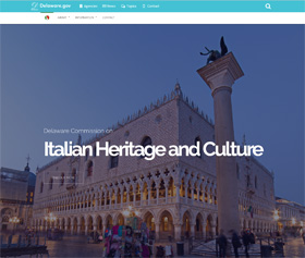 Image of the Commission on Italian Heritage and Culture's new CLF4 website