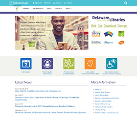 Image of the Division of Libraries's new CLF4 website