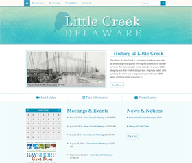 The Town of Little Creek's new website