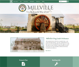 Image of Millville Delaware's new responsive website