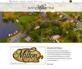 Image of Milton Delaware's new responsive website