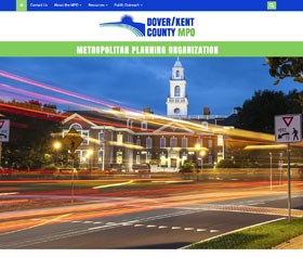 Image of the new Dover/Kent County MPO website