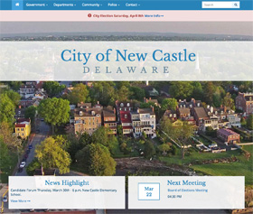 Image of the City of New Castle's new responsive website
