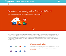 Image of the Office 365 Project's new CLF4 website