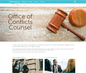 Image of the Office of Conflicts Counsel's new CLF4 website