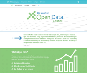 Image of the Open Data Council's new CLF4 website