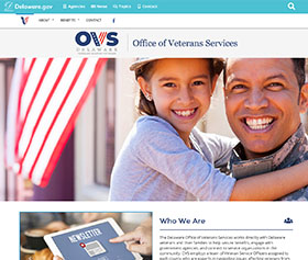 Image of Office of Veterans Services new responsive website