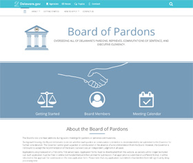 Image of the Board of Pardons new CLF4 website