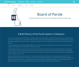 Image of Board of Parole's new CLF4 website