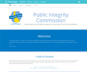 Image of the Public Integrity Commission new CLF4 website