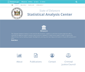 Image of the Statistical Analysis Center's new CLF4 website