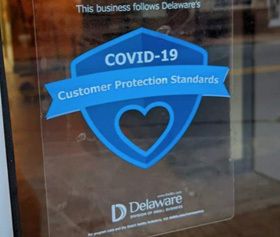 Image of the Delaware Division Small Business Customer Protection Standards Shield