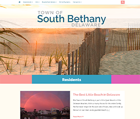 Image of South Bethany Delaware's new responsive website